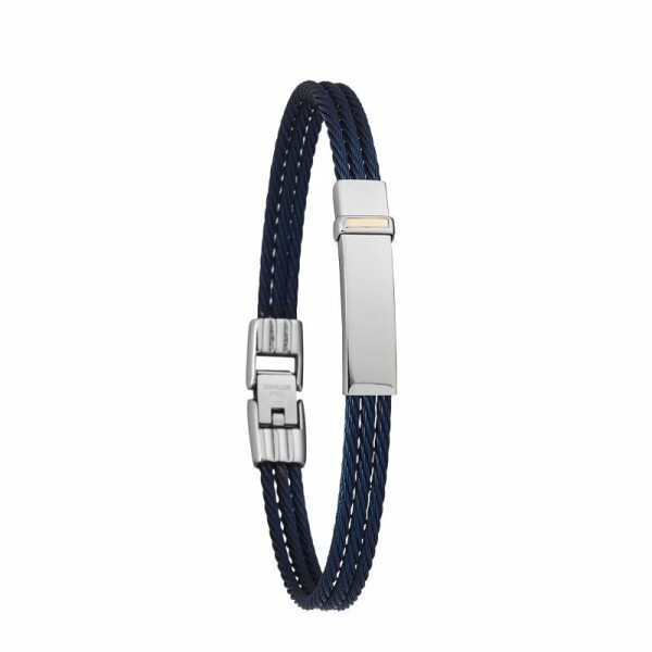 Bracelet Jourdan Bijoux Face en acier bleu