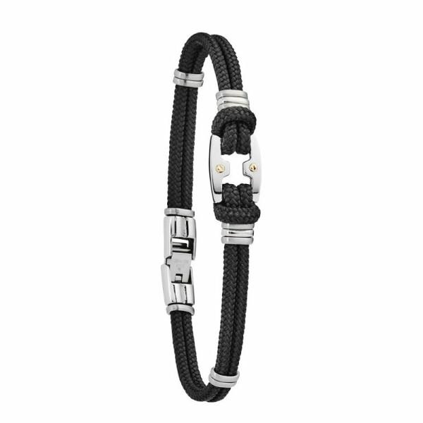Bracelet sur cordon Jourdan Bijoux Maho en acier