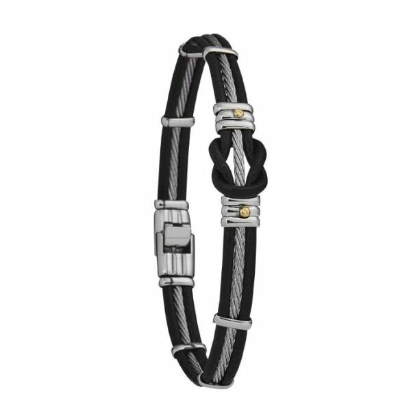 Bracelet Jourdan Bijoux Huskies en acier, cuir