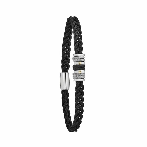 Bracelet sur cordon Jourdan Bijoux Copacabana en acier