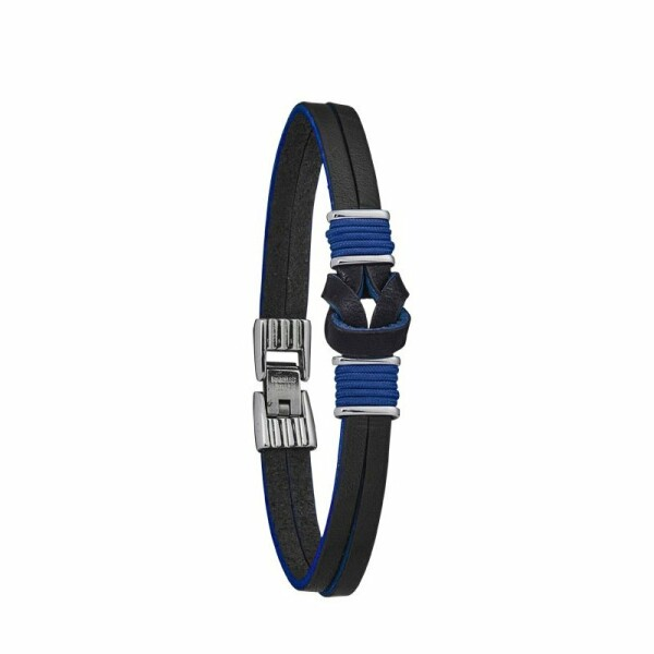 Bracelet Jourdan Bijoux Amerigo en cuir et acier