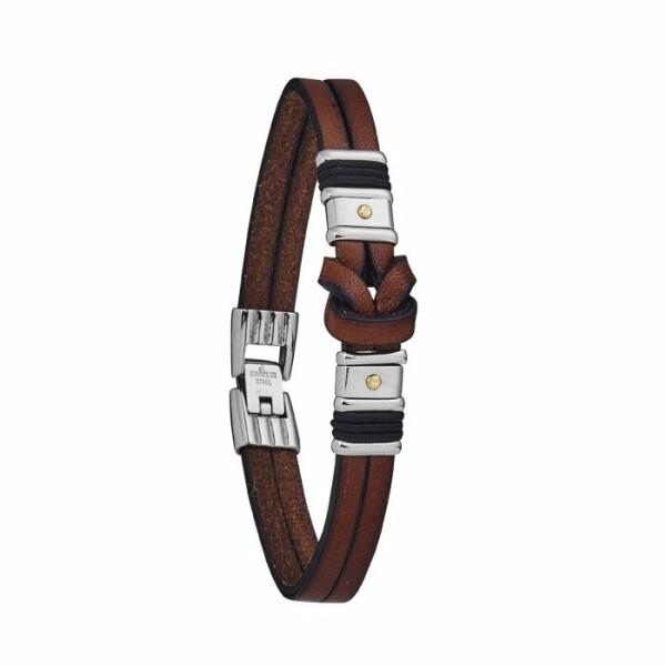 Bracelet Jourdan Bijoux Wallis en cuir et acier