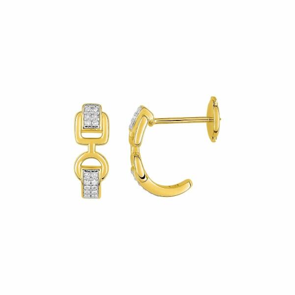 Boucles d'oreilles Guy Laroche en plaqué or jaune