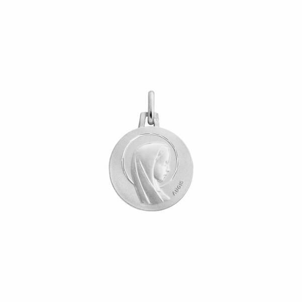 Médaille de baptême Augis Vierge en or blanc, 16mm