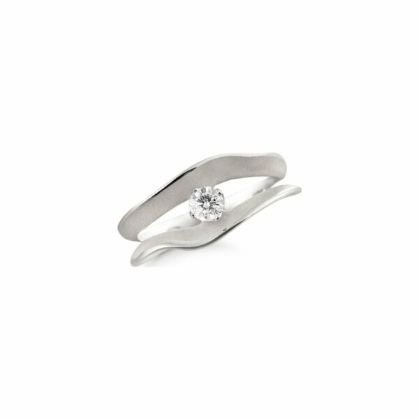 Solitaire ANNAMARIA CAMMILLI Dune Assolo en or blanc White Ice et diamants