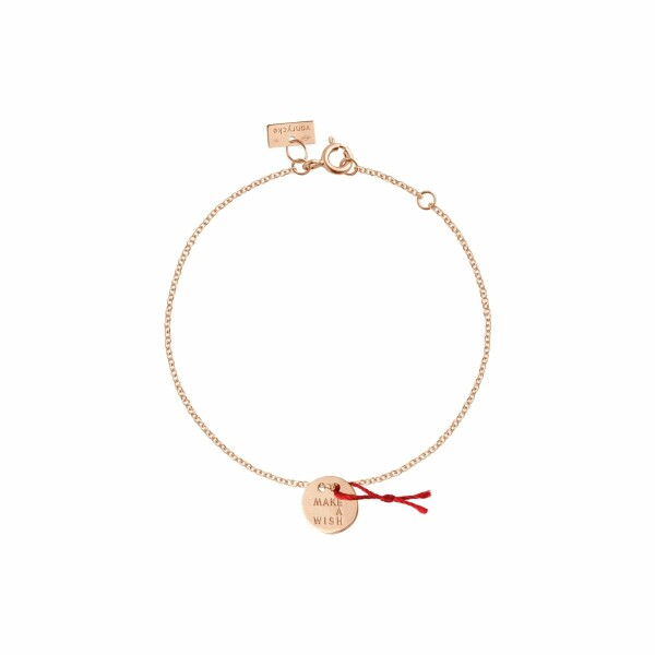 Bracelet Vanrycke Make a wish en or rose