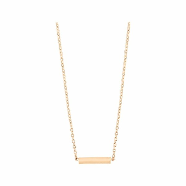 Collier GINETTE NY GOLD & DIAMOND STRIP en or rose