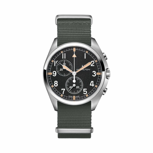 Montre Hamilton Khaki Aviation Khaki Pilot Pioneer Chrono Quartz
