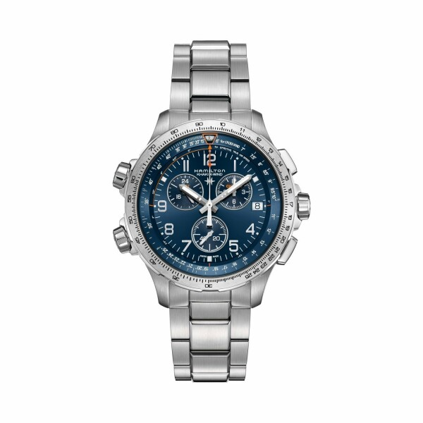 Montre Hamilton Khaki Aviation Khaki X-Wind GMT Chrono Quartz