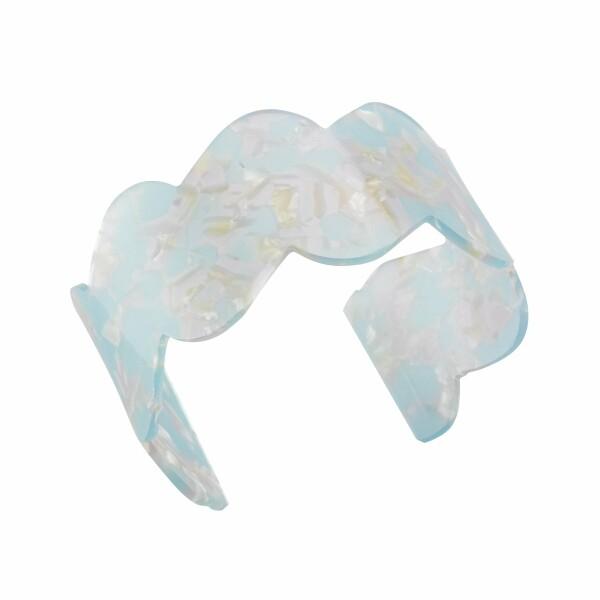 Bracelet Jourdan Bijoux Jiji en résine blanche et turquoise