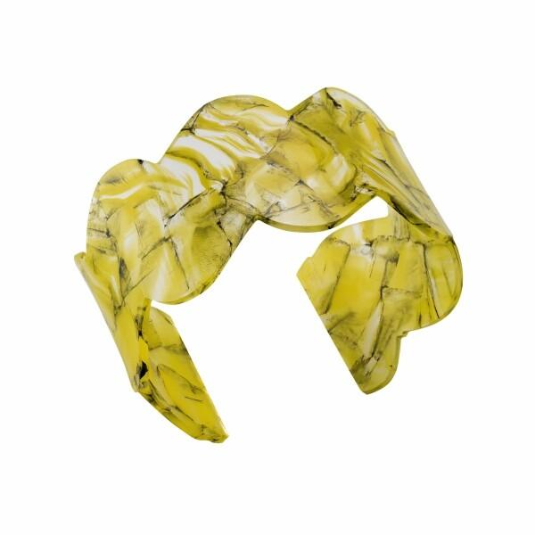 Bracelet Jourdan Bijoux Jiji en résine jaune et noire