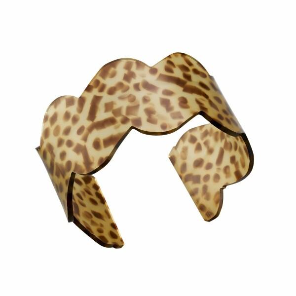 Bracelet Jourdan Bijoux Jiji en résine léopard