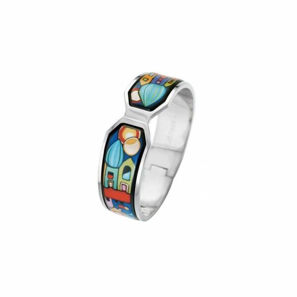 Bracelet FREY WILLE Hommage à Hundertwasser Contessa en email plaqué rhodium-palladium