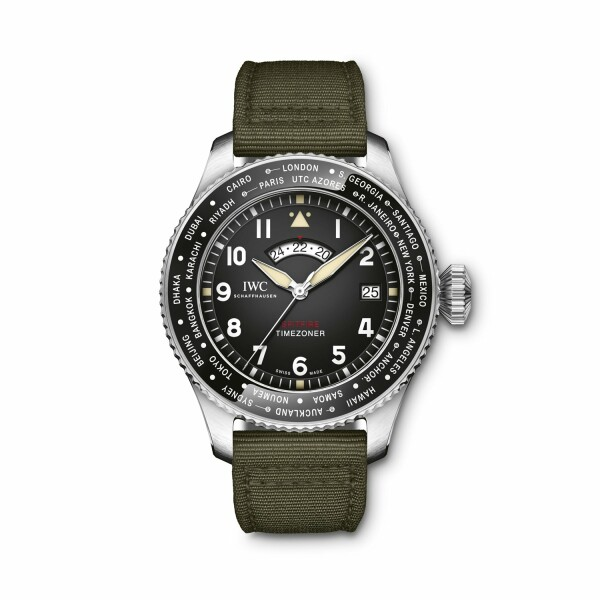 Montre d'aviateur IWC Timezoner Spitfire Edition The longest flight