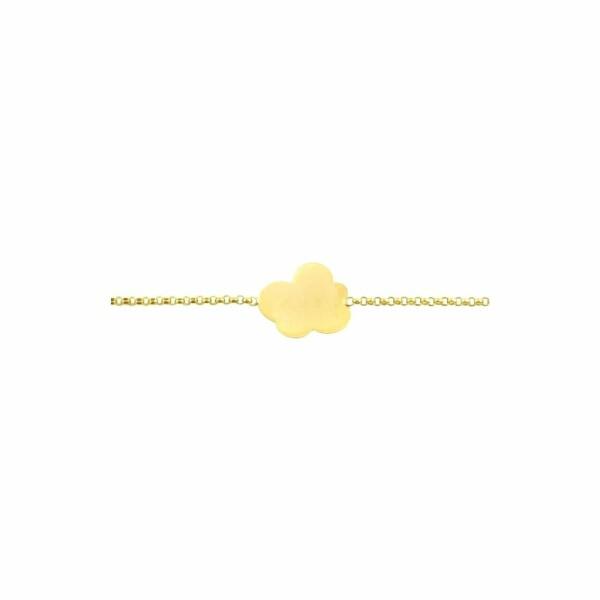 Gourmette Arthus Bertrand Nuage en or jaune, 14cm