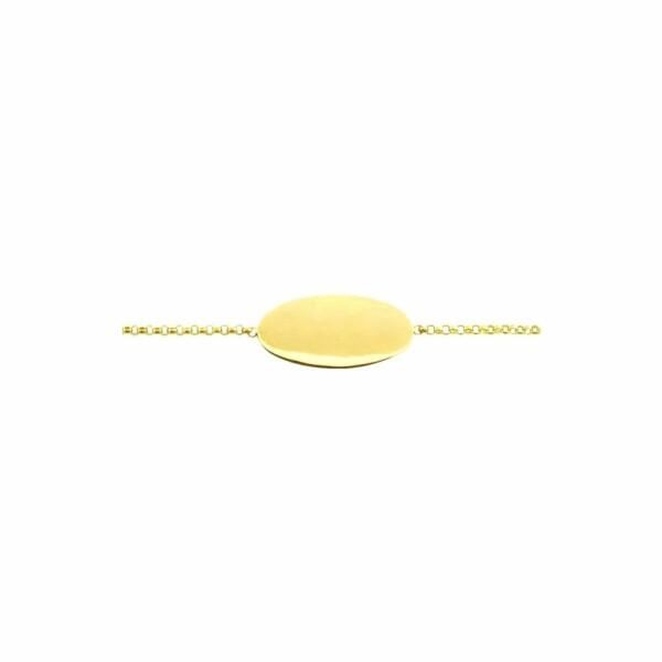 Gourmette Arthus Bertrand Calisson en or jaune, 14cm