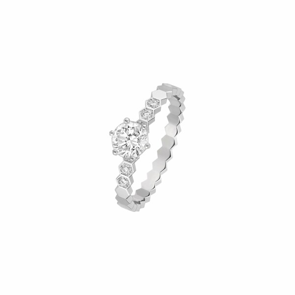Solitaire Chaumet Bee My Love en or blanc et diamants
