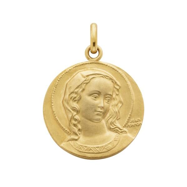 Médaille de baptême Arthus Bertrand Virgo Amabilis en or jaune