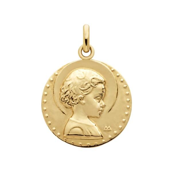 Médaille Arthus Bertrand Jésus enfant en or jaune, 18mm