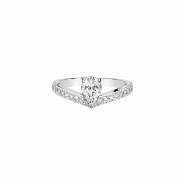 Solitaire Chaumet Joséphine Aigrette en platine et diamants