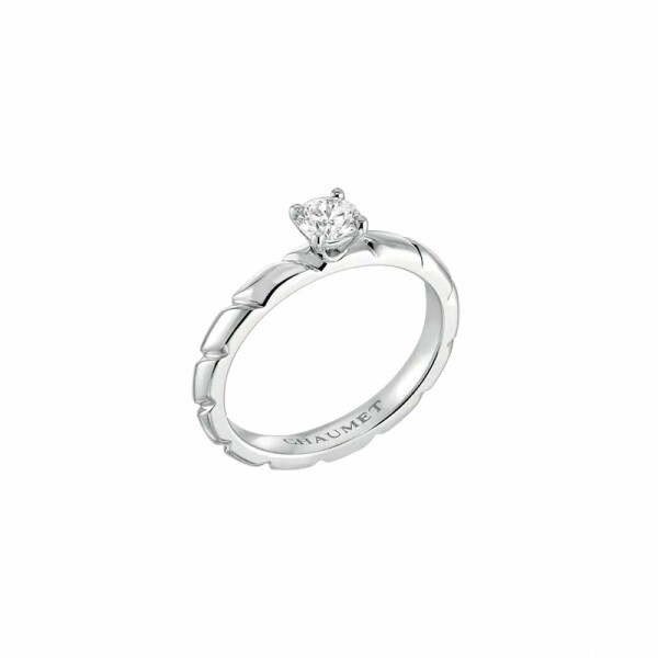 Solitaire Torsade de Chaumet en platine et diamant