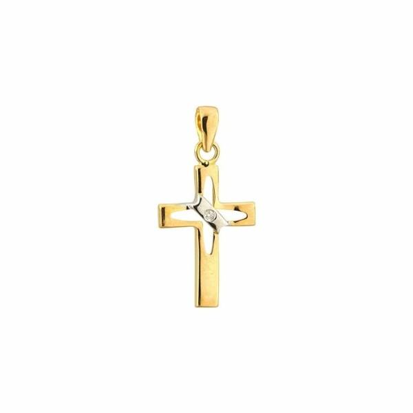 Pendentif Augis Croix en or jaune, 16x11mm