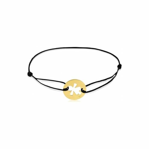 Bracelet sur cordon Augis petite fille en or jaune