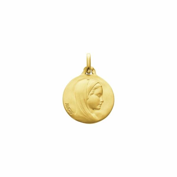 Médaille de baptême Augis Vierge de profil en or jaune, 16mm