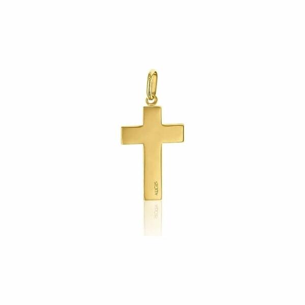 Médaille de baptême Augis Croix en or jaune, 20x15mm