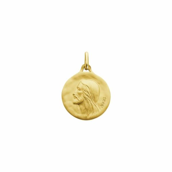 Médaille de baptême Augis Christ en or jaune, 18mm