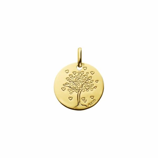 Médaille de baptême Augis arbre aux cœurs en or jaune, 14mm