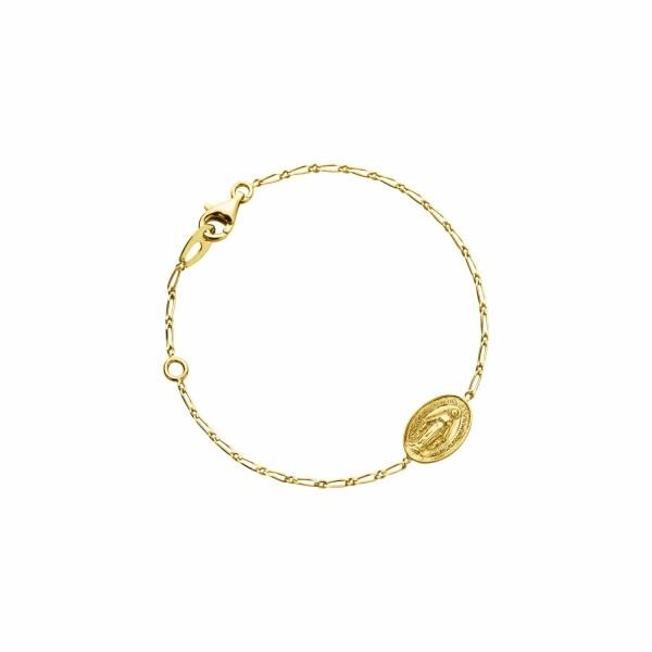 Bracelet Augis Miraculeuse en or jaune, 14mm