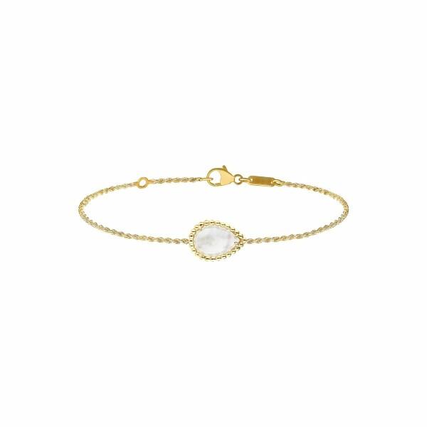 Bracelet Boucheron Serpent Bohème en or jaune et nacre