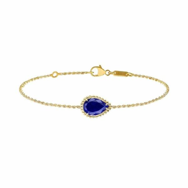Bracelet Boucheron Serpent Bohème en or jaune et lapis lazuli