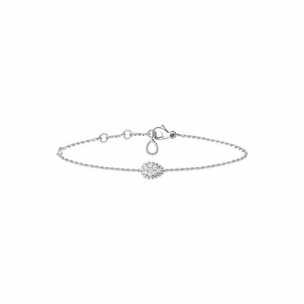 Bracelet Boucheron Serpent Bohème Motif XS en or blanc et diamants