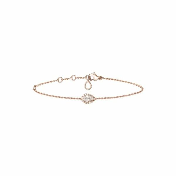 Bracelet Boucheron Serpent Bohème motif S en or rose et diamants