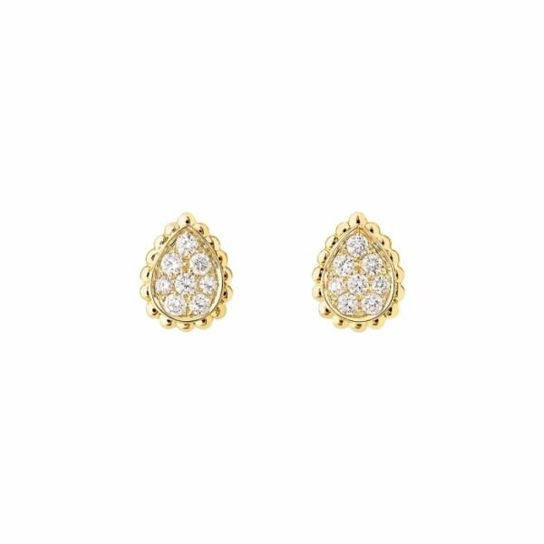 Boucles d'oreilles Boucheron Serpent Bohème Small en Or jaune et Diamant