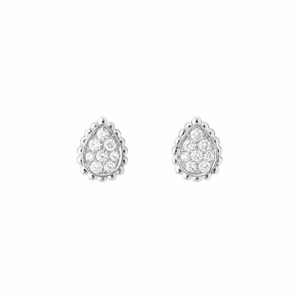 Boucles d'oreilles Boucheron Serpent Boheme Petit Modèle en Or blanc et Diamant