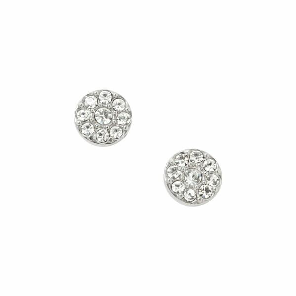 Boucles d'oreilles Fossil en acier et cristaux