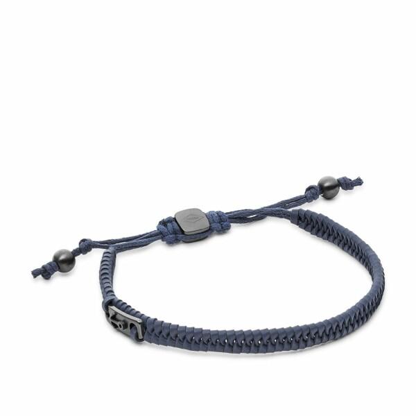Bracelet Vintage FOSSIL en cuir gris et acier