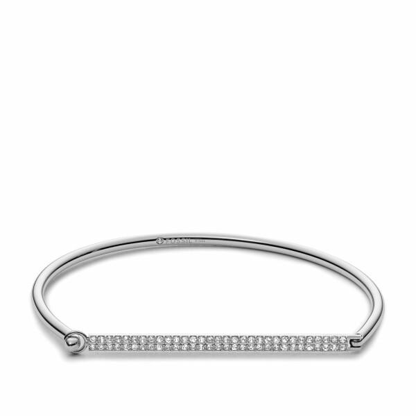 Bracelet FOSSIL en acier et oxyde de zirconium