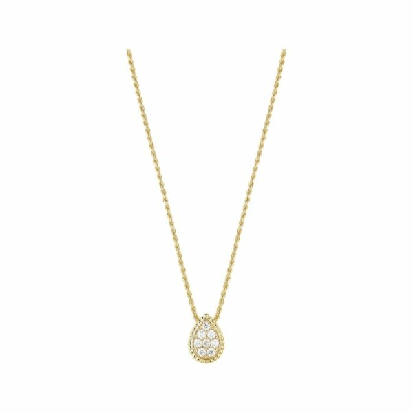 Pendentif Boucheron Serpent Boheme en Or jaune et Diamant