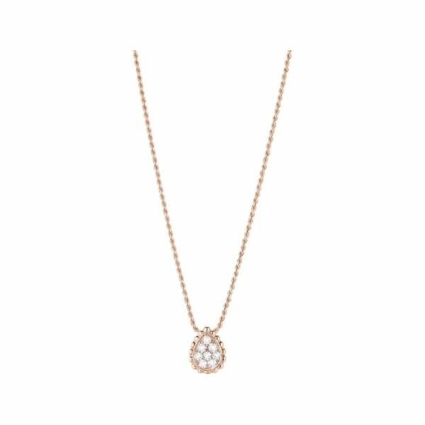 Pendentif Boucheron Serpent Bohème motif XS en or rose et diamants