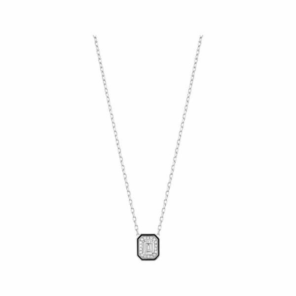 Pendentif Boucheron Vendôme en laque, or blanc et diamants