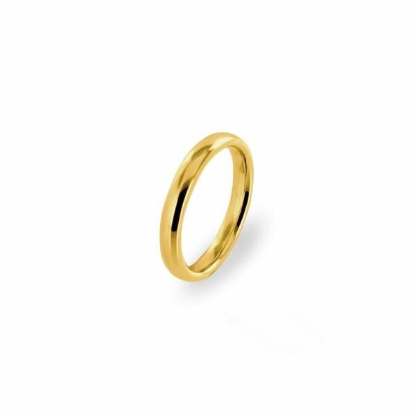 Alliance Jonc parisien prestige en or jaune, 3mm