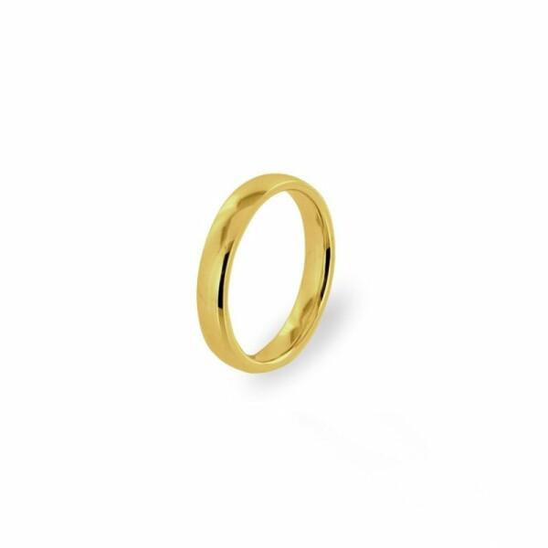 Alliance Jonc parisien prestige en or jaune, 4.5mm