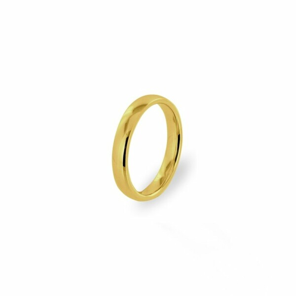 Alliance Jonc parisien prestige en or jaune, 4mm
