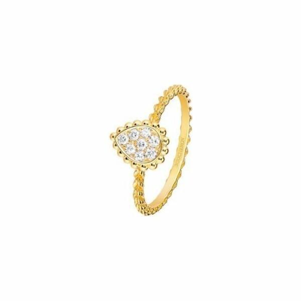 Bague Boucheron Serpent Bohème Small en Or jaune et Diamant