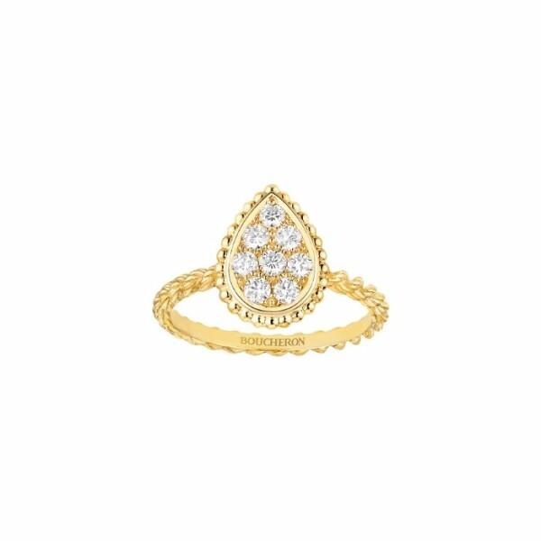 Bague Boucheron Serpent Boheme en or jaune et diamants