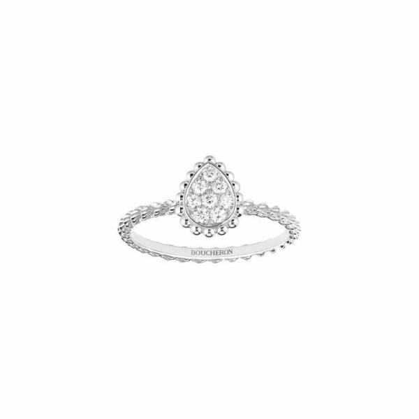 Bague Boucheron Serpent Bohème en or blanc et diamants